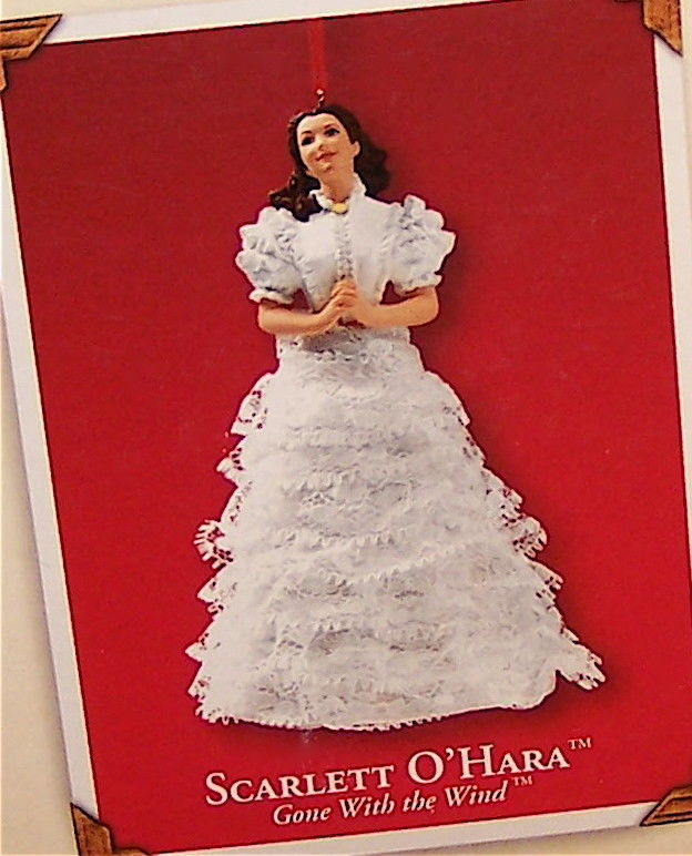 Primary image for Hallmark 2002 Scarlett O'Hara Gone With The White Gown Porcelain Ornament