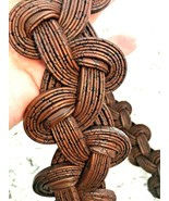 """COLDWATER CREEK BROWN CHUNKY Chain Buckle Women's Belt 40""""-42"""" - $15.56"""