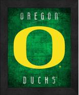"Oregon Ducks ""Retro College Logo Map"" 13x16 Framed Print  - $39.95"