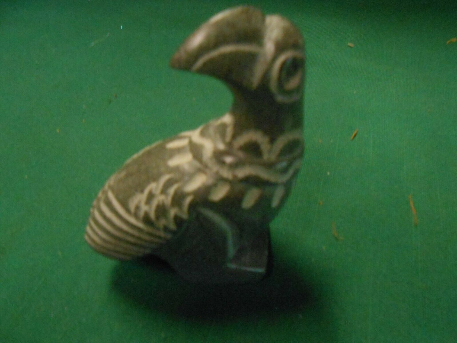 "Great MEXICAN Soapstone Carved BIRD Figurine....3"" ...........FREE POSTAGE USA"