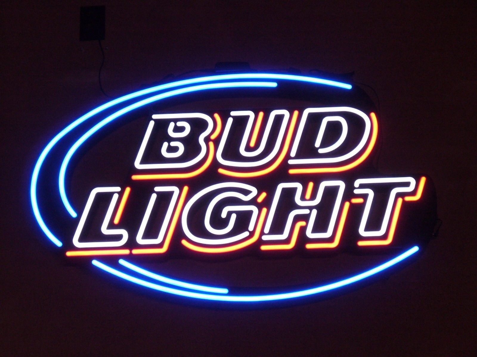 "New Bud Light Budweiser Wall Decor Happy Hour Lamp Light BEER Neon Sign 24""x20"""