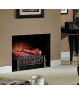 Fireplace Log Set LED Electric Zonal Heating Rolling Flame Kid Pet Safe ... - $122.49