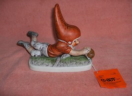 Vintage 1977 Goebel Football Gnome Touchdown Tommy Co-Boy Tommy  Tag - $45.00