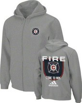 Chicago Fire Full Zip Hooded Sweatshirt Adidas NWT MLS 2XL Major League Soccer - $59.39