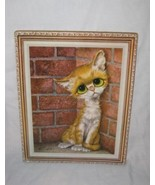 "So Cute 11"" X 14"" GIG Big Eyes Sad Kitten Cat Picture - $33.68"