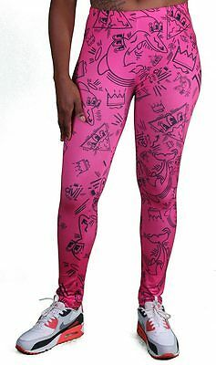 Civil Clothing Hommage Hot Pink Legging Fly Print Sexy Polyester Stretch Pants