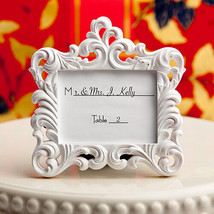 Set of 12 Victorian Baroque Style Wedding Place Card Holder Picture Fram... - $29.68
