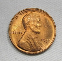 1946-S/S RPM Lincoln Wheat Cent CH UNC RED Coin AF423 - $17.35