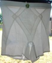 White Sheer panties Lace Girdle Control Vintage Figurettes Sz M - $34.64