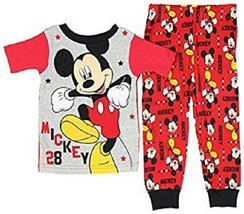 Diseny Junior Toddler Boys Pajamas 2pc Set Mickey Mouse 3T, 4T or 5T NWT - $9.74