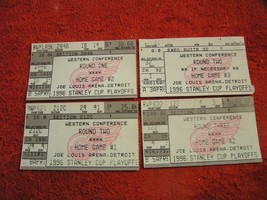 1996 DETROIT RED WINGS STANLEY CUP PLAYOFF Western Conf Round Ticket Stu... - $11.26