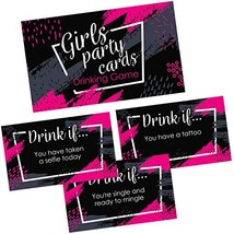 Girls Party Drinking Games Cards - 36 Funny & Naughty Adult Drink If Car... - $14.86