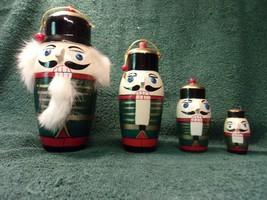 """Vintage Nesting Dolls - Nutcracker with Beard & Hair -  8 """" Tall        ... - $39.60"""