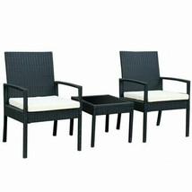 Modern 3pc Outdoor Rattan Patio Conversation Furniture Set - $271.73