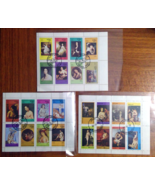 Stamps 3 Mini Sheets Paintings Women Models Nudes Art Used Canceled Oman - $1.79