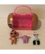 LOL Surprise 1 Doll 2 Outfits and Safe Carry Case Pink Gold Locking Pass... - $9.99