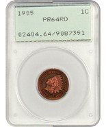 1905 1c PCGS PR 64 RD (OGH Rattler Holder) - First Generation PCGS Holder - $601.40