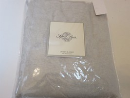 Sferra CHALET Grey full queen Blanket Brushed Plush Cotton $225 NEW - $128.20