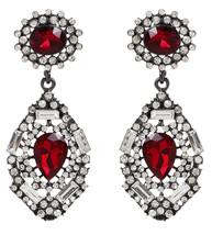 Amrita Singh Victorian Ruby Crystal Statement Double Drop Earrings ERC 1682 NWT  - $24.26