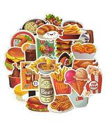 50 Pcs Stickers Snacks Drinks Stickers Decoration Vinyl Waterproof Decal... - $16.90