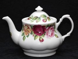 Roy Kirkham GARDEN Rose 9 PC TEA SET FINE BONE CHINA MADE IN ENGLAND FLO... - $588.90