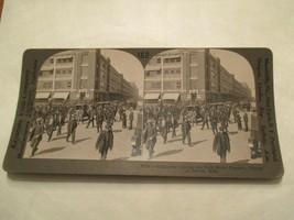 Employees leaving Ford Motor Car Co factory Detroit Michigan MI Stereovi... - $14.99