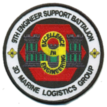 USMC 9th Engineer Support Bn 3rd MLG Patch - $11.87