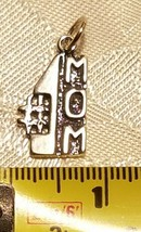 Sterling Silver .925 #1 Number One Mom Award Words Charm  image 2