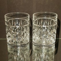 2 (Two) RALPH LAUREN ASTON Cut Lead Crystal DBL Old Fashioned Glasses-Si... - $28.49