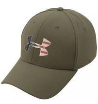 Under Armour Freedom Big Flag Logo Hat - Marine OD Green/Silver-M/L-Bran... - $27.49