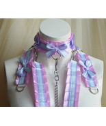 Made to Order - Kitten play collar leash set - Purple hime - bdsmproof k... - $110.00