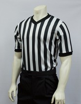 "SMITTY | BKS-200 | 1"" Stripe MESH Basketball Officials Short Sleeve Shirt V-neck - $24.98"