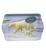 "Ashdene Polar Bear Snack Tray Melamine 7"" Long 4.75"" High New  - $9.89"