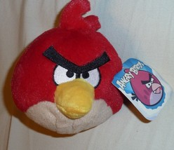 """6"""" Angry Birds Plush Red Commonwealth 2010 Rovio Stuffed Toy Doll No Sou... - $37.61"""