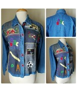 Life Style Denim Long Sleeve Jean School Teacher Elementary Embroidered ... - $13.54