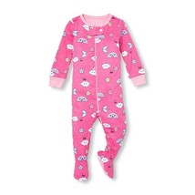 NWT The Childrens Place Rainbow Girls Pink Stretchie Footed Sleeper Pajamas - $8.99