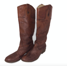 Frye Carson Tall Distressed Boots Women Size 9.5 Brown - $139.95