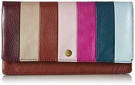 Fossil Women's Aubrey Flap Wallet new nwt henna stripe clutch - $40.07