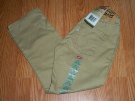 Levi's 514 Boys Tan Adjustable Waistband Slim Fit 8 Reg NWT $38 - $17.33
