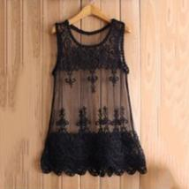 Lacy See Through Mesh Layering Tank - $11.10