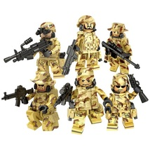 US Military Soldier With Weapon Camouflage Cloth Pistol Fit Lego Christm... - $11.99