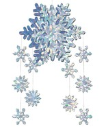 Snowflake Mobile 3D Decoration Prop 22 Inches Christmas Holiday BG20190 - $29.99