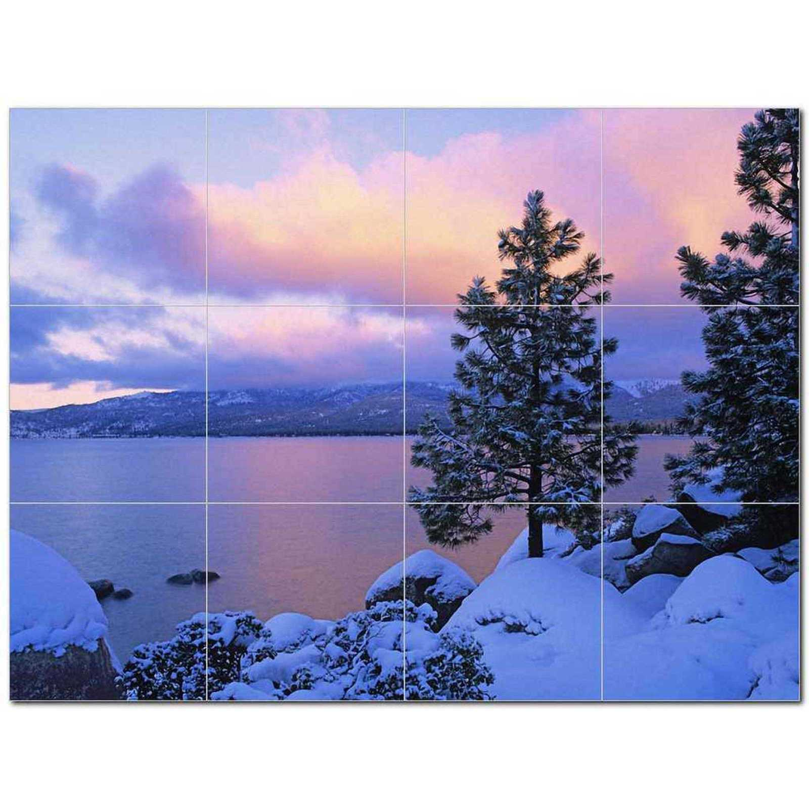 Primary image for Lake Scene Ceramic Tile Mural Kitchen Backsplash Bathroom Shower BAZ405397