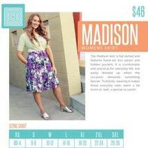 LuLaRoe Madison Skirt 3XL XXXL NWT Black Pink Yellow Floral Flowers Triangle - $31.44