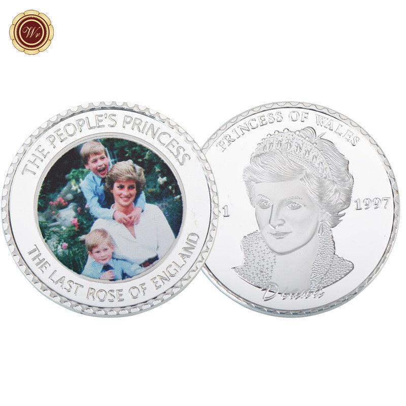 Half Dollar Coin Red Rim Edition PRINCESS DIANA 20th Anniversary KENNEDY U.S