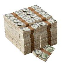 PROP MOVIE MONEY - 1980 Series $100 Aged $1,000,000 Blank Filler Package - $399.99