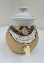 Funny Character Beverage PITCHER Handcrafted Stoneware Face Art Mug RARE Find - $79.19