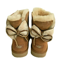 Ugg Classic Double Bow Mini Chestnut Water Resistant Boot Us 11 / Eu 42 / Uk 9 - $120.62
