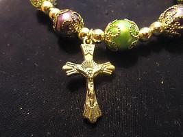 Lot Of 2 Ornate Cross Bracelets (13555) >> + A Mystery Gift - $4.95