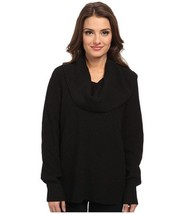 Michael Kors Plus Black Thermal Waffle Cowl Neck Sweater ( Sz. 0X ) Nwt $110.00 - $50.49